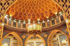 Ibn Battuta Persia Court Dome3. The Dome of the hall in the Persia Court in the Ibn Battuta Mall in Dubai Royalty Free Stock Images