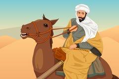 Ibn Battuta Riding een Paardillustratie royalty-vrije illustratie