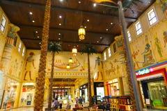 Ibn Battuta-winkelcomplex in Doubai Stock Afbeelding