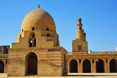 Ibn Tulum mosque in Cairo in Cairo. View of Ibn Tulum mosque in Cairo, Egypt Stock Photos