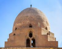 Ibn Tulun清真寺,开罗,埃及洗净液喷泉的圆顶  免版税库存图片