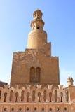 Ibn Tulun螺旋尖塔 免版税图库摄影