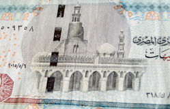 Ibn Tulun Mosque on Egyptian banknote Stock Photography