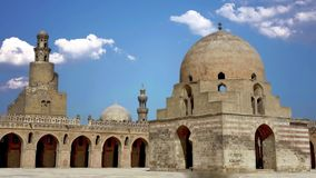 Ibn Tulun`s sword is located in Cairo, the capital of Egypt.  stock footage