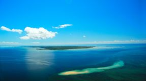 Ibo Island Mozambique. Aerial View of Ibo Island in Mozambique in the Quirimbas archipelago Stock Image
