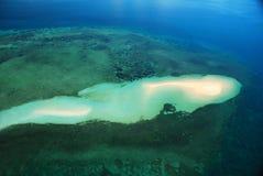 Ibos-Insel-Sand-Querneigung Mosambik Lizenzfreies Stockfoto