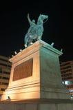 Ibrahim巴夏雕象在晚上,开罗 免版税库存照片