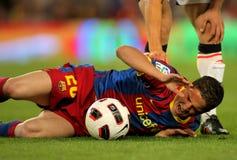 Ibrahim Afellay von Barcelona Lizenzfreies Stockbild