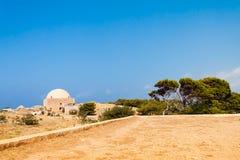 Мечеть султана Ibrahim в Fortezza Rethymno стоковое изображение rf
