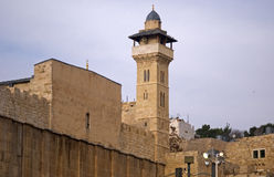 Ibrahim Mosque, Hebrón, Palestina fotografía de archivo libre de regalías