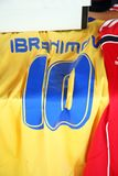 Ibrahimovic original football jersey. From deceased Franciscan Vrancic`s collection,Croatia stock images
