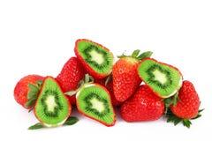 Ibrid果子草莓猕猴桃 免版税图库摄影
