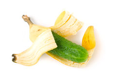 Ibrido della banana e del cetriolo Fotografia Stock Libera da Diritti