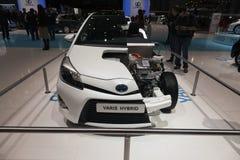 Ibrido di Toyota Yaris Fotografia Stock