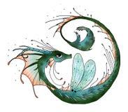 Ibrido grafico del drago dell'ippocampo Immagine Stock