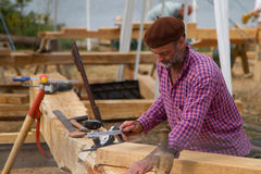 IBTC at Buckler`s Hard. Building boats at Buckler`s Hard Royalty Free Stock Images