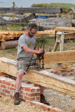 IBTC at Buckler`s Hard. Building boats requires great skill Stock Photos