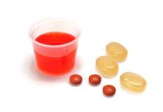 ibuprofen βήχα lozenges λαιμός σιροπιού Στοκ Εικόνες