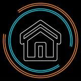 icône à la maison, maison d'immobiliers de vecteur illustration stock
