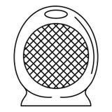 Icône à la maison de fan de réchauffeur d'air, style d'ensemble Illustration Stock