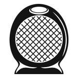 Icône à la maison de fan de réchauffeur d'air, style simple Illustration Stock