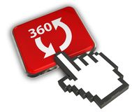 Icône 360 Image libre de droits
