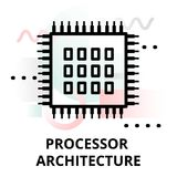 Icône abstraite d'architecture de processeur Photographie stock libre de droits