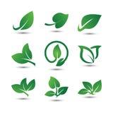 Icône abstraite de logo de feuille illustration stock