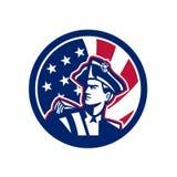 Icône américaine de drapeau des Etats-Unis de patriote illustration libre de droits