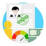 Icône approuvée de prêt Image libre de droits