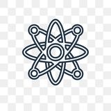 Icône atomique de vecteur d'isolement sur le fond transparent, linéaire à illustration de vecteur