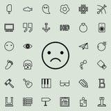 icône avec émotion contrariée d'ensemble Ensemble détaillé de ligne minimalistic icônes Conception graphique de la meilleure qual illustration de vecteur