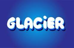 icône blanche bleue de logo de conception de vecteur de concept des textes 3d de glacier Photo libre de droits