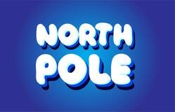 icône blanche bleue de logo de conception de vecteur de concept des textes 3d de Pôle Nord Image libre de droits