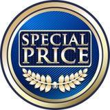 Icône bleue de label de la publicité des prix spéciaux illustration stock
