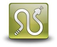 Icône, bouton, serpents à sonnettes de pictogramme illustration stock