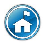 Icône, bouton, station de garde forestière de pictogramme illustration stock