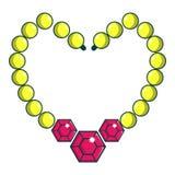 Icône brillante de collier de perle, style de bande dessinée illustration stock