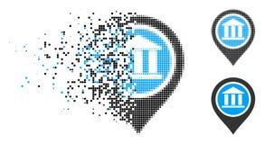 Icône cassée de Dot Halftone Bank Map Pointer illustration de vecteur