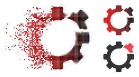 Icône cassée tramée de vitesse de pixel cassé illustration de vecteur