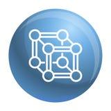 Icône chimique de cube, style d'ensemble illustration libre de droits