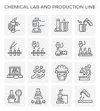 Icône chimique de laboratoire illustration libre de droits