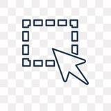 Icône choisie de vecteur d'isolement sur le fond transparent, Se linéaire illustration stock
