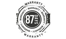 icône classique de conception de garantie de 87 jours rétro illustration libre de droits