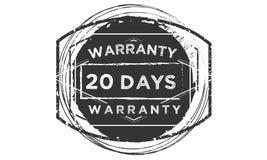 icône classique de conception de garantie de 20 jours rétro illustration libre de droits