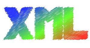 Icône colorée de XML - vecteur Photo stock