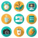 Icône créative réglée avec des activités populaires illustration de vecteur