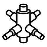 Icône croisée de connexion d'échafaudage, style d'ensemble illustration stock