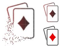 Icône déchiquetée de Dot Halftone Diamonds Gambling Cards illustration libre de droits
