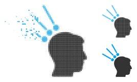 Icône déchiquetée de Dot Halftone Head Test Connectors illustration de vecteur